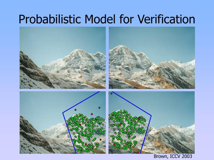 Probabilistic Model for Verification