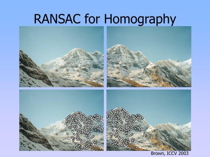 RANSAC for Homography