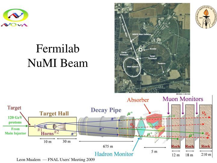Fermilab NuMI Beam