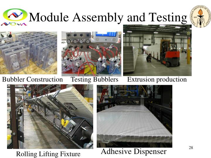 Module Assembly and Testing
