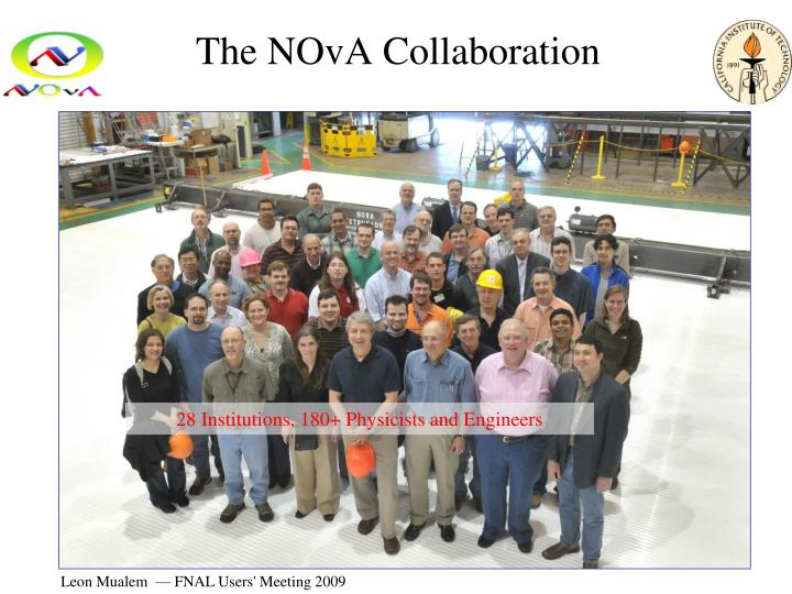 The nova collaboration