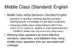 middle class standard english