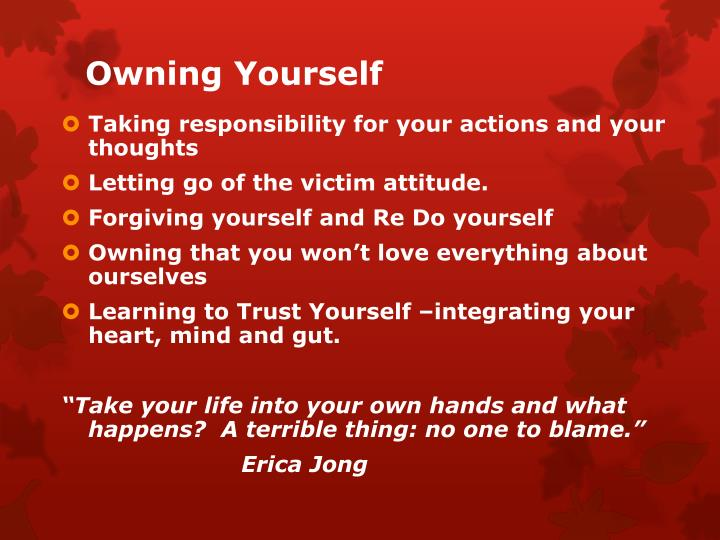 Owning Yourself