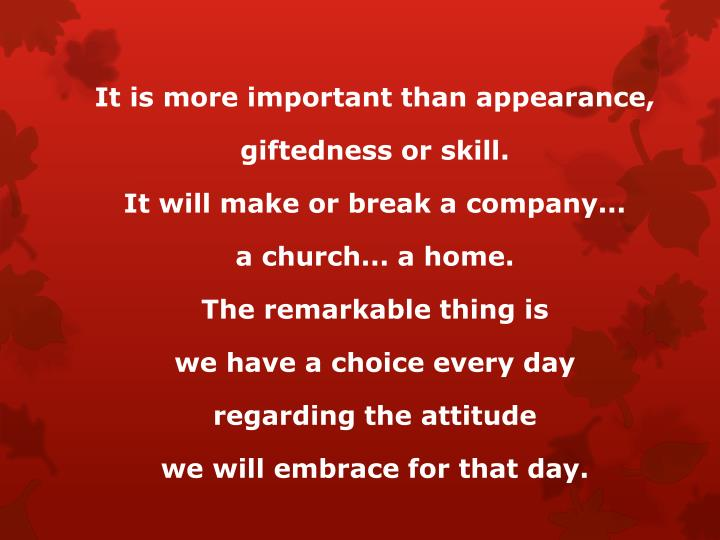 It is more important than appearance,