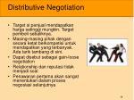 distributive negotiation