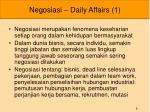 negosiasi daily affairs 1