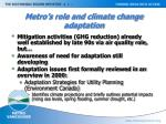 metro s role and climate change adaptation
