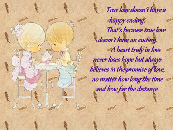 True love doesn't have a happy ending.