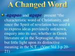 a changed word1