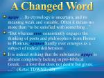 a changed word3