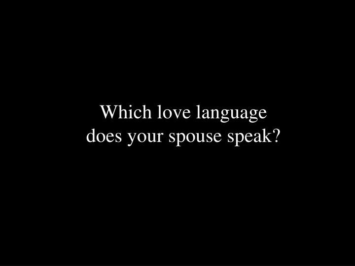 Which love language