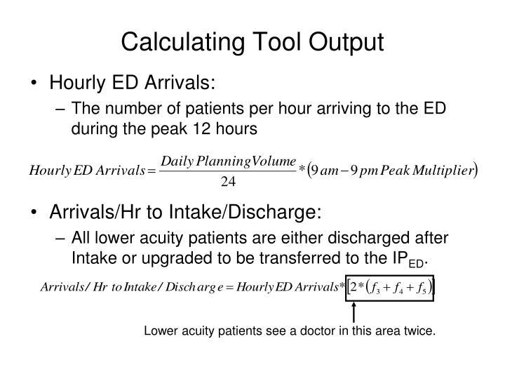 Calculating Tool Output