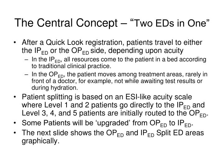 The central concept two eds in one