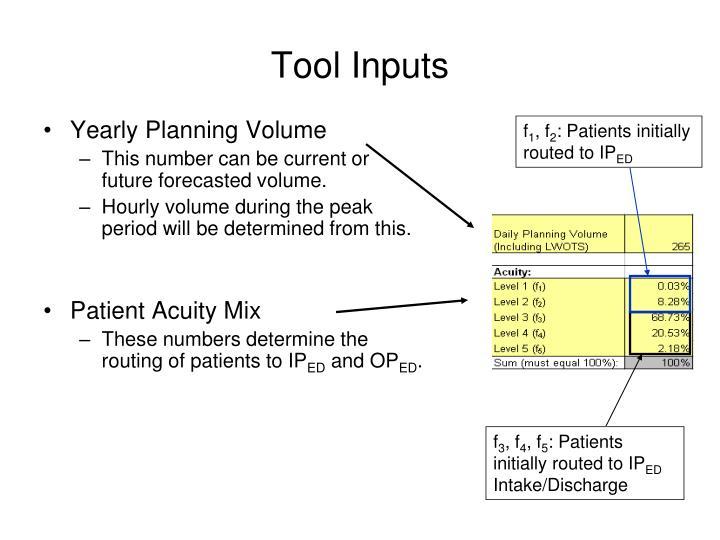 Tool Inputs