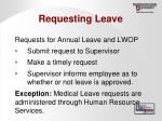 requesting leave