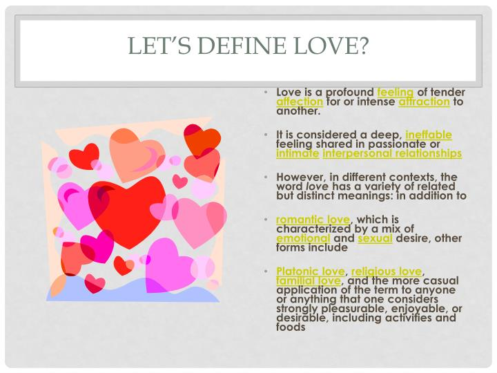 Let s define love