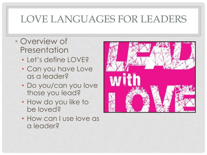 Love languages for leaders1