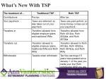 what s new with tsp1