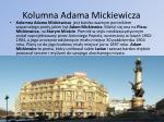 kolumna adama mickiewicza