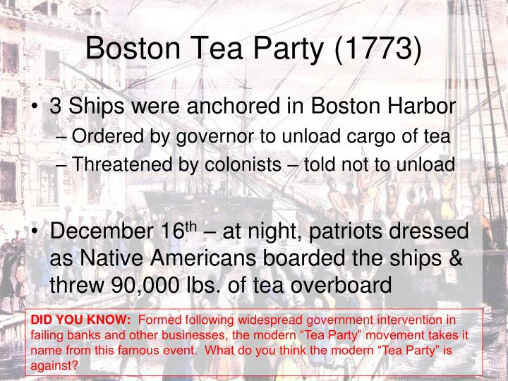 Boston Tea Party (1773)