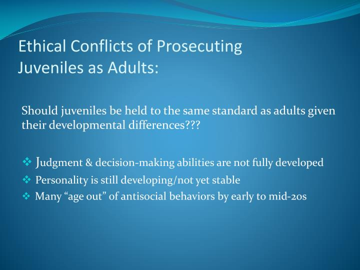 Ethical Conflicts of Prosecuting