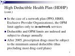 high deductible health plan hdhp cont