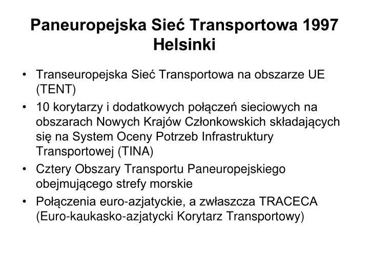 Paneuropejska Sieć Transportowa 1997 Helsinki