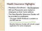 health insurance highlights