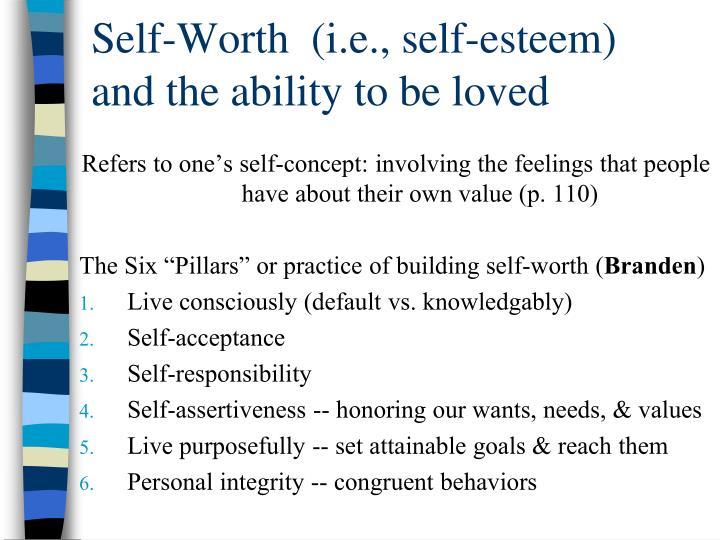 Self-Worth  (i.e., self-esteem)