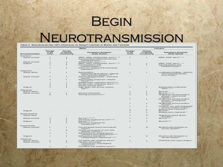 Begin Neurotransmission