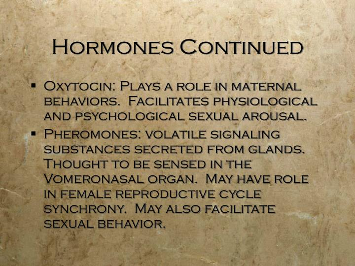 Hormones Continued