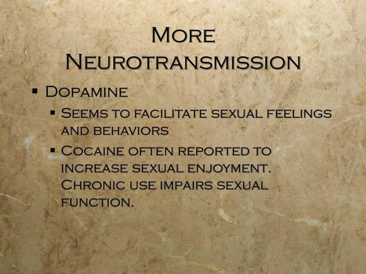More Neurotransmission