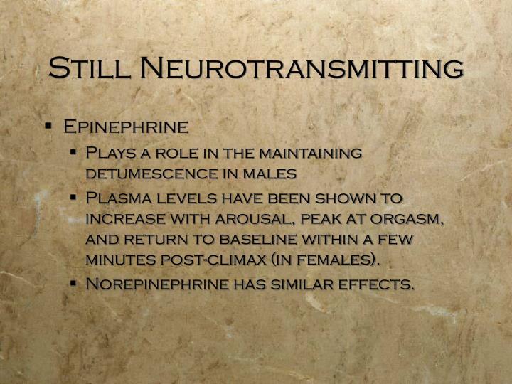 Still Neurotransmitting