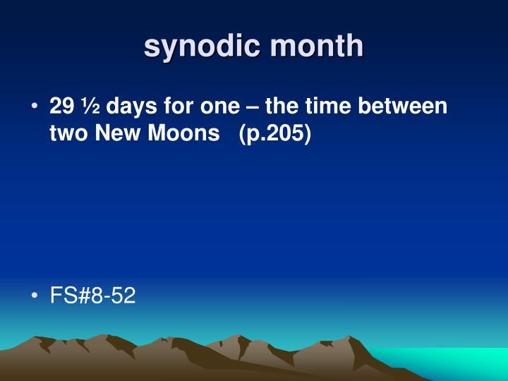 synodic month