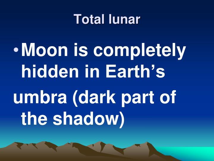 Total lunar