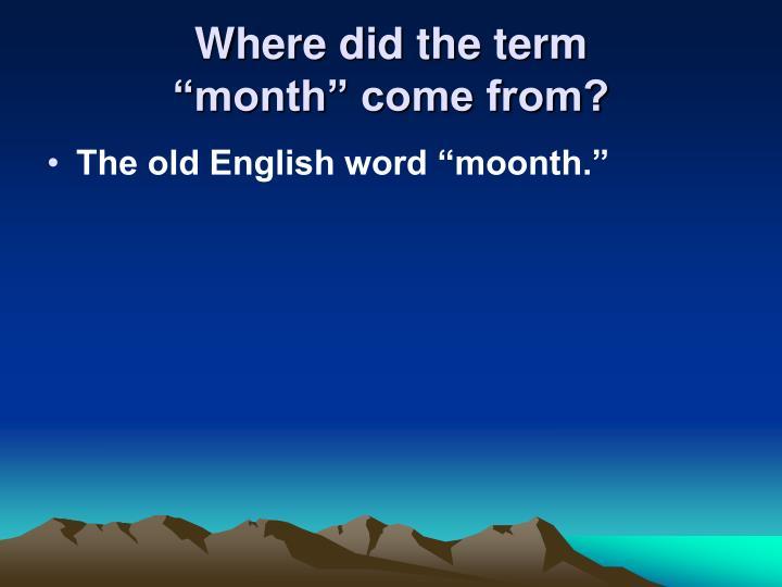 Where did the term