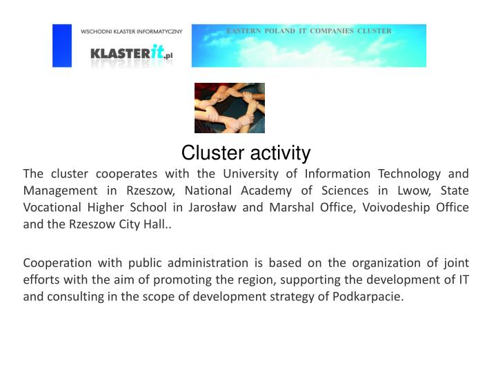 Cluster activity