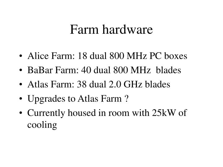 Farm hardware