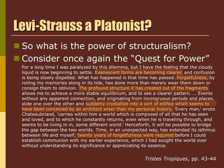 Levi-Strauss a Platonist?