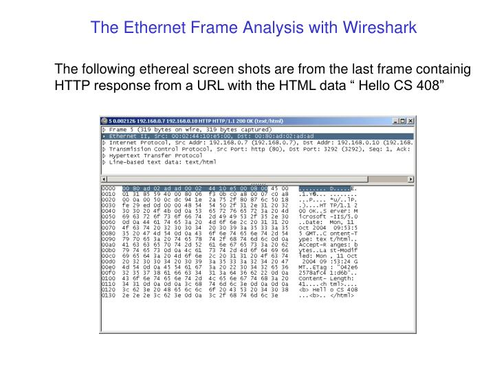 The Ethernet Frame Analysis with
