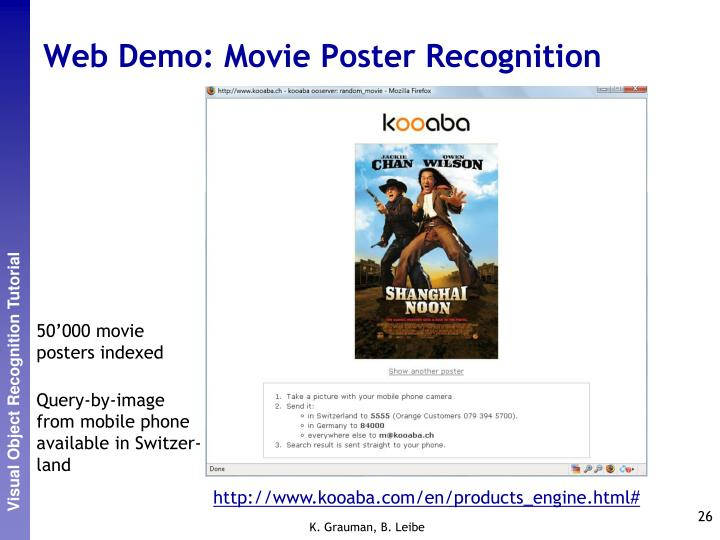 Web Demo: Movie Poster Recognition