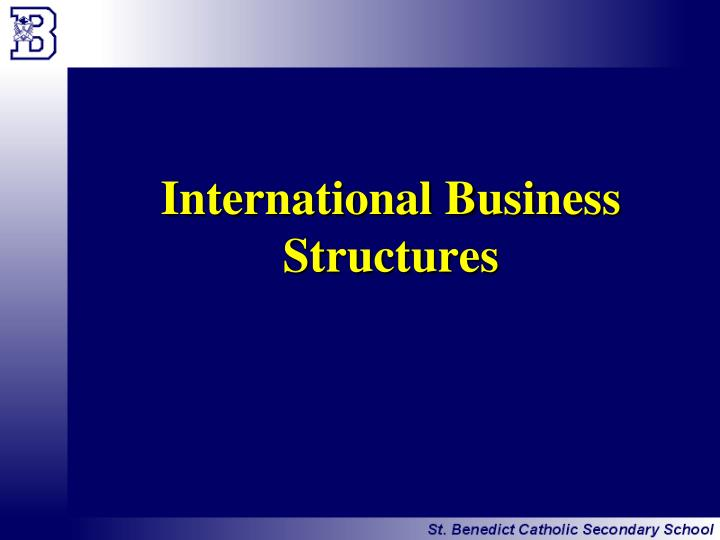 International Business Structures