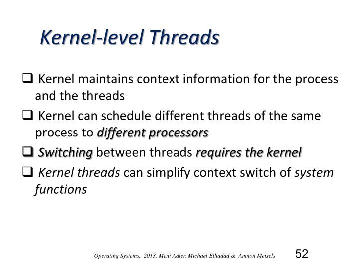 Kernel-level Threads