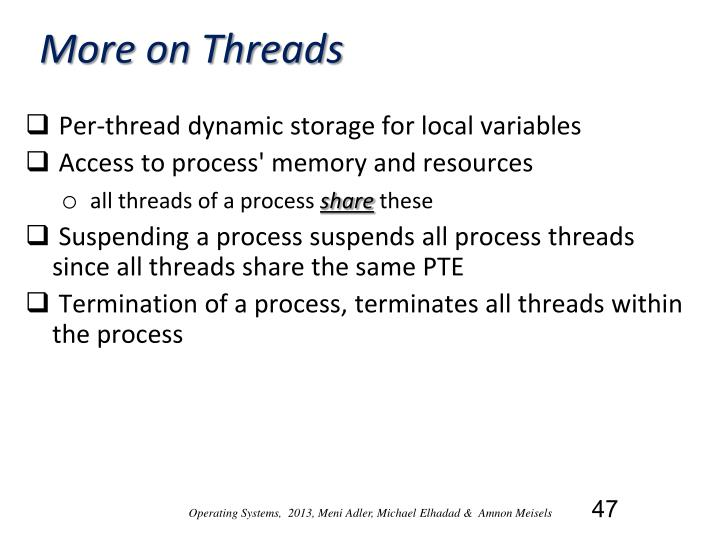 More on Threads