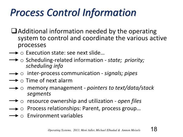 Process Control Information