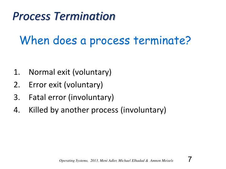 Process Termination
