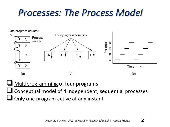 Processes the process model