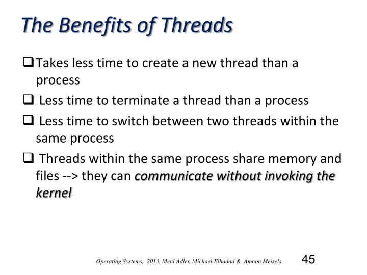 The Benefits of Threads