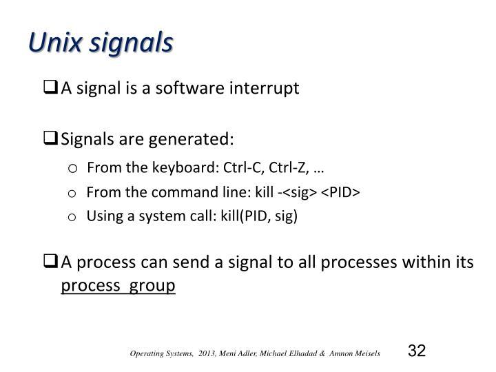 Unix signals