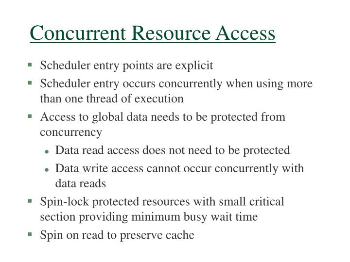 Concurrent Resource Access